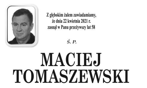 Odszedł Maciej Tomaszewski